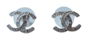 Chanel Chanel Classic CC Silver Earrings A95777
