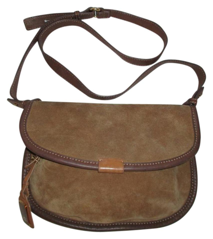 Ugg Australia Suede Brown Leather Cross Body Bag