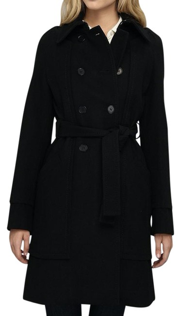 BCBGMAXAZRIA Wool Peacoat Winter Chic Coat