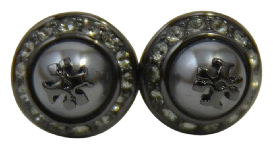 4ccc9c72c16ce Tory Burch Pearl and Black Stud New  natalie  Faux Earrings - Tradesy