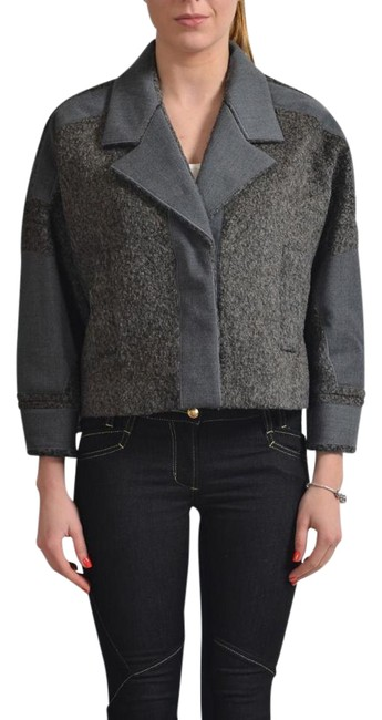 Item - Gray Women's Three Button Cropped Coat Size 8 (M)