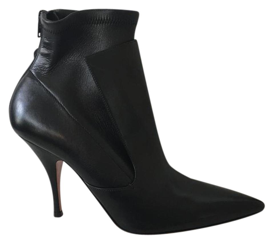 b760d5109 Givenchy Black New Bottine 10 Infinity. Lux Leather Layered Ankle Boots/ Booties