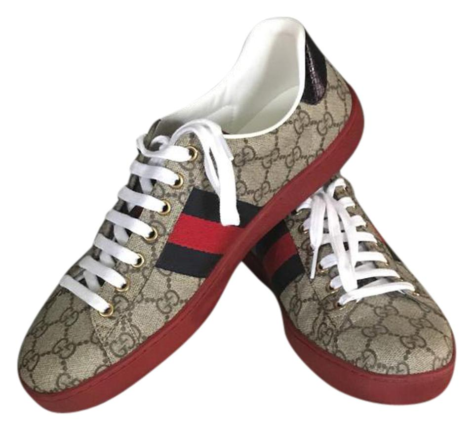 26f937629cc Gucci Brown Ace Gg Supreme Men Sneakers Size US 8.5 Regular (M, B) 60% off  retail