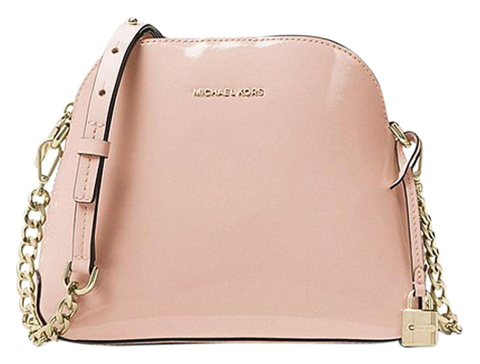 df041b96596d Michael Kors Mercer Patent Dome Ballet Leather Cross Body Bag - Tradesy