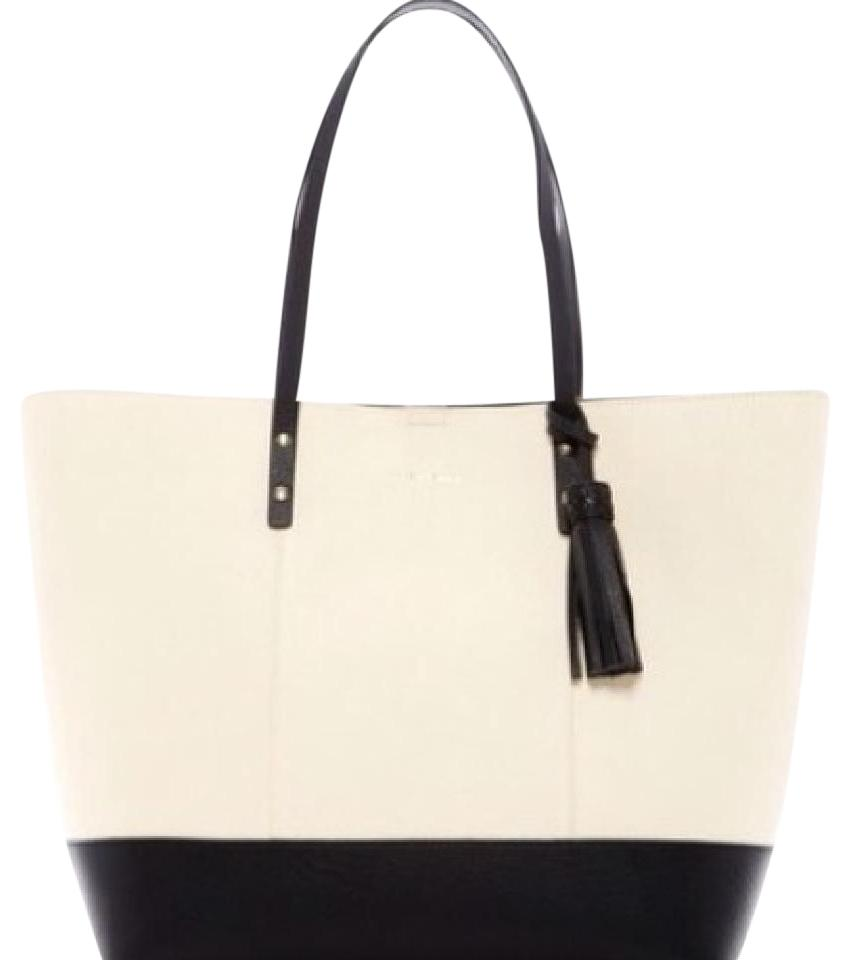 adffd77f6 Cole Haan Bayleen Ivory / Black Tote - Tradesy