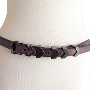 Linea Pelle purple leather with silver
