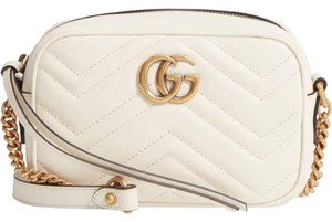 Gucci Leather Gold Hardware Chain Quilted Sweetheart Shoulder Bag