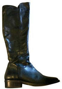 Ted and Muffy Leather Black Boots