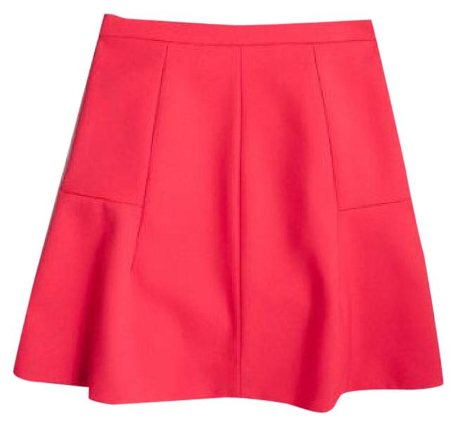 Preload https://img-static.tradesy.com/item/22027844/jcrew-red-bright-flared-skirt-size-12-l-32-33-0-1-650-650.jpg