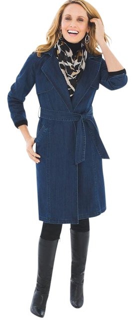 Preload https://img-static.tradesy.com/item/22027851/chico-s-blue-denim-trench-size-6-s-0-1-650-650.jpg