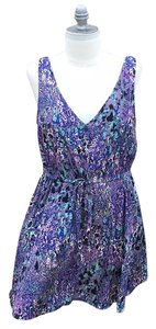 BB Dakota short dress purple splatter print on Tradesy