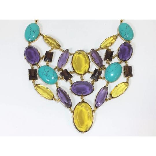Kate Spade multi-stone statement necklace