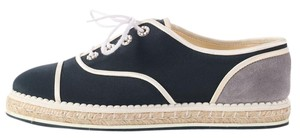 Chanel Ch.l0724.05 Sneakerdrille Sneakers Tennis Suede Navy Athletic