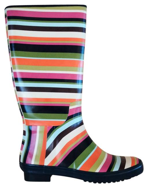 Item - Multicolor Pammie Colored Striped Rain Boots/Booties Size US 9 Regular (M, B)