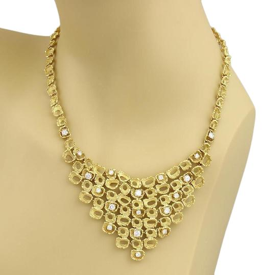 Preload https://img-static.tradesy.com/item/22028184/yellow-gold-estate-285ct-diamond-18k-fancy-textured-open-drape-necklace-0-1-540-540.jpg