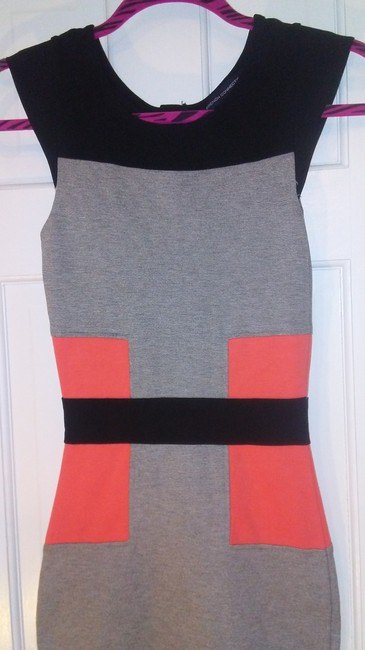 French Connection Bodycon Stretchy Two-tone Casual Formal Dress