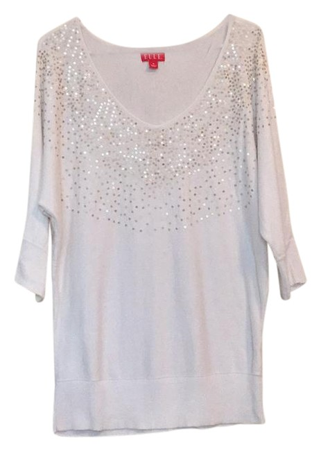 Preload https://img-static.tradesy.com/item/22028359/elle-slouchy-sequined-sweaterpullover-size-8-m-0-1-650-650.jpg