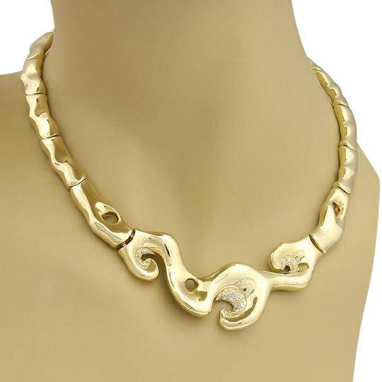 Preload https://img-static.tradesy.com/item/22028375/yellow-gold-18k-curved-contour-fancy-collar-necklace-0-1-540-540.jpg