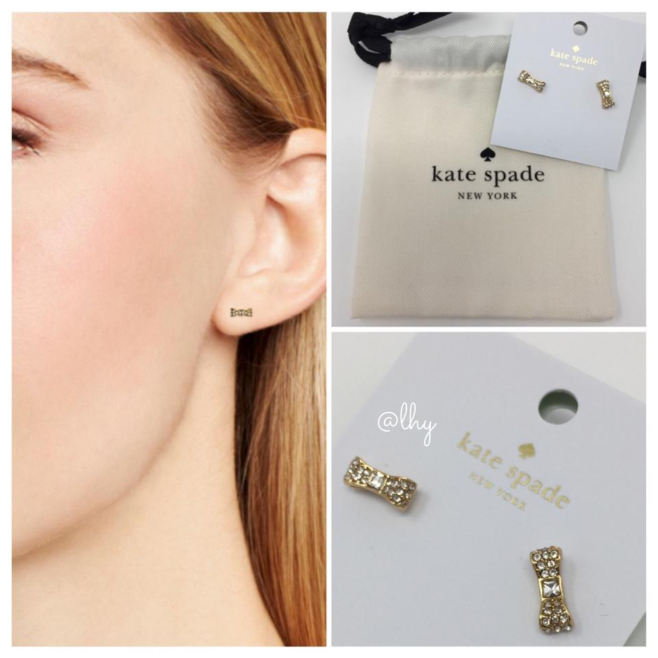 Kate Spade Mini Pave Bow Earrings