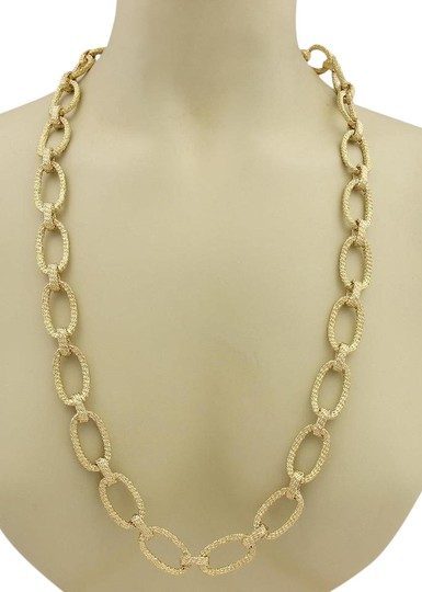Preload https://img-static.tradesy.com/item/22028490/yellow-gold-estate-hefty-14k-large-oval-wire-woven-chain-link-necklace-0-1-540-540.jpg