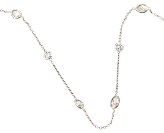 Preload https://img-static.tradesy.com/item/22028665/white-gold-new-740ct-diamond-by-the-yard-14k-assorted-shape-chain-necklace-0-1-540-540.jpg