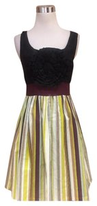 Anthropologie short dress yellow black on Tradesy
