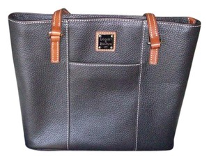 Dooney & Bourke T-moro Gold Tote in Dark Brown
