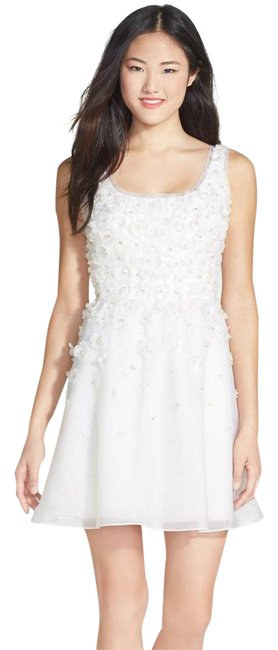 Preload https://img-static.tradesy.com/item/22028861/ali-ro-white-hand-pieced-silk-flower-organza-fit-and-flare-short-formal-dress-size-10-m-0-1-650-650.jpg