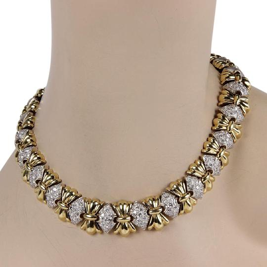 Preload https://img-static.tradesy.com/item/22028885/yellow-and-white-gold-estate-14k-2-tone-heavy-link-5ct-pave-diamond-fashion-necklace-0-1-540-540.jpg