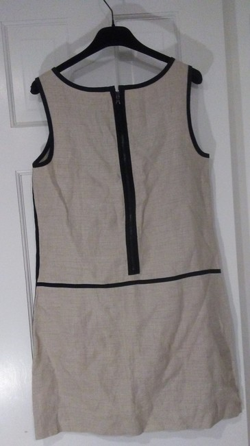 Tan and black Maxi Dress by Ann Taylor LOFT Comfortable Linen Two-tone