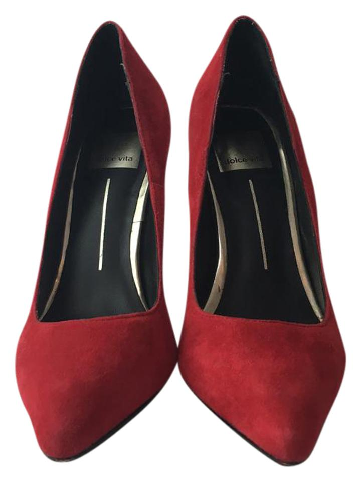 99cdf3c961ad Dolce Vita Red Bella Suede Pumps. Size  US 6 Regular (M ...