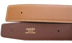 Hermès AUTHENTIC VINTAGE 65 CM HERMES LEATHER STRAP NO BUCKLE STRAP ONLY!!!! DARK AND LIGHT BROWN