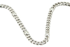 Other Magnificent 4ct Diamonds 14k White Gold Long Curb Link Chain Necklace