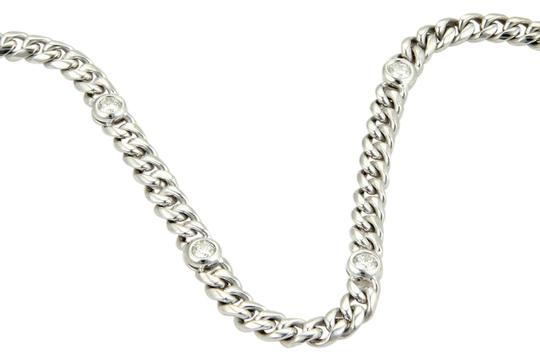 Preload https://img-static.tradesy.com/item/22029157/white-gold-magnificent-4ct-diamonds-14k-long-curb-link-chain-necklace-0-1-540-540.jpg