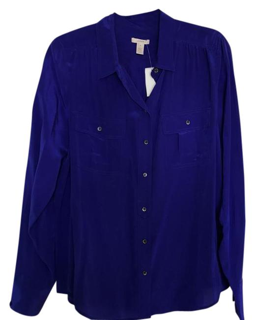 Preload https://img-static.tradesy.com/item/22029171/jcrew-blue-blouse-size-12-l-0-2-650-650.jpg