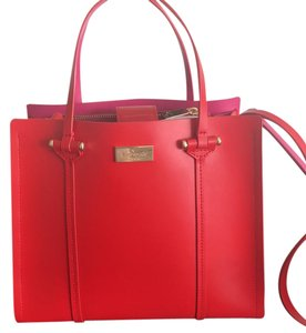 Kate Spade Satchel in red with hot pink interior