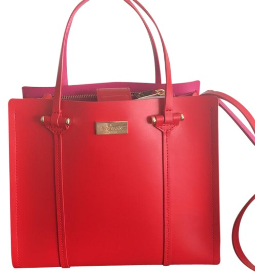 Preload https://img-static.tradesy.com/item/22029315/kate-spade-elodie-arbour-hill-red-with-hot-pink-interior-leather-satchel-0-1-540-540.jpg