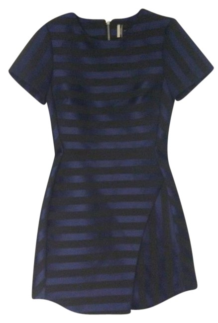 Preload https://img-static.tradesy.com/item/22029327/topshop-blue-and-black-satin-stripe-a-line-short-cocktail-dress-size-2-xs-0-1-650-650.jpg