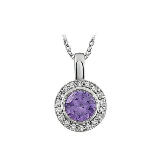 Preload https://img-static.tradesy.com/item/22029416/purple-white-cubic-zirconia-sterling-surrounded-by-cubic-zirconia-necklace-0-0-540-540.jpg