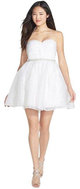Preload https://img-static.tradesy.com/item/22029484/ali-ro-white-strapless-silk-organza-and-lace-short-formal-dress-size-12-l-0-1-650-650.jpg