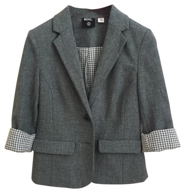 BDG by Urban Outfitters Heathered Grey Blazer