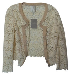 Anthropologie Elevenses Lace New Embroidered Off-white Jacket
