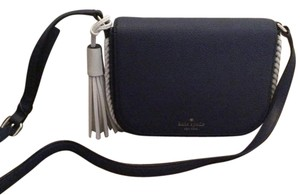 Kate Spade Leather Crossbody Navy/ white Messenger Bag