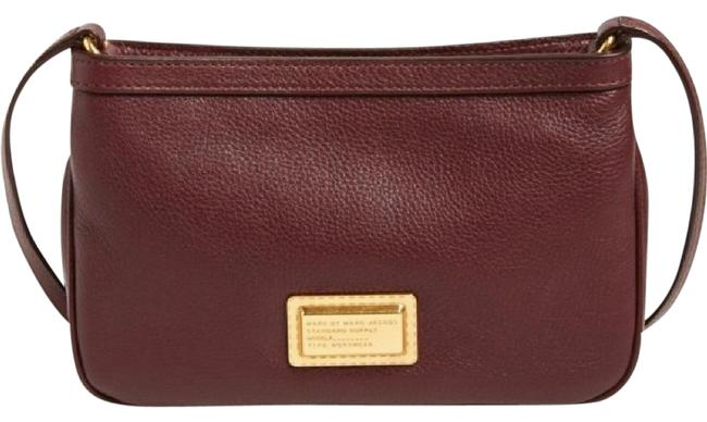 Marc by Marc Jacobs Percy Maroon Leather Cross Body Bag Marc by Marc Jacobs Percy Maroon Leather Cross Body Bag Image 1