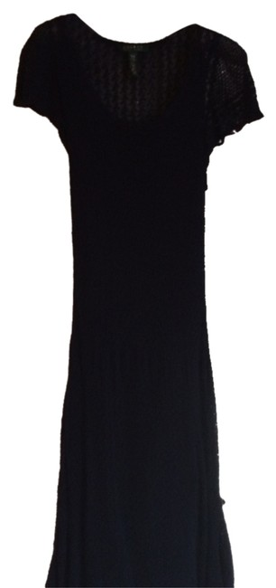 Ralph Lauren short dress navy blue See Through To Slip on Tradesy