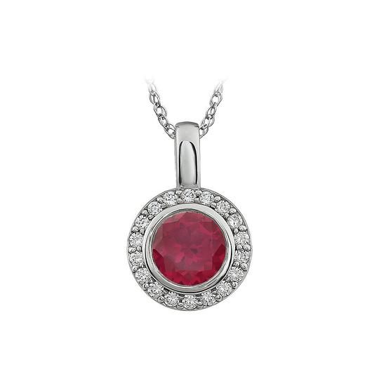 Preload https://img-static.tradesy.com/item/22029924/red-white-ruby-colour-surrounded-by-cubic-zirconia-pendant-necklace-0-0-540-540.jpg