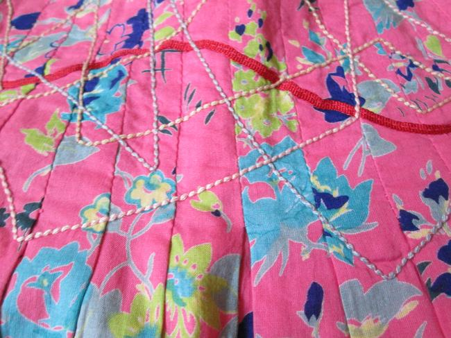 Urban Outfitters Floral Boho Pleated Spring Summer Skirt Pink