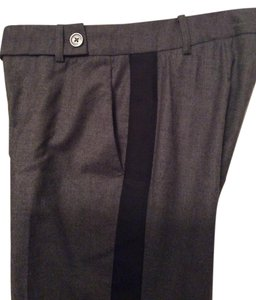 Michael Kors Trouser Pants Charcoal gray with black tuxedo stripe
