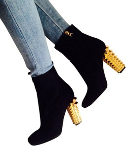 Fendi Studded Black Boots