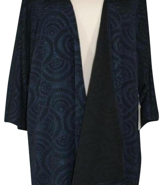 Item - Small Deep Blue Lined Lindsay Sweater